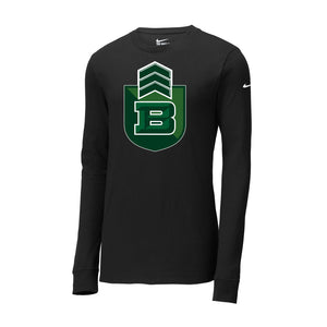 Badin Football Nike Core Cotton Tee LS (Black)
