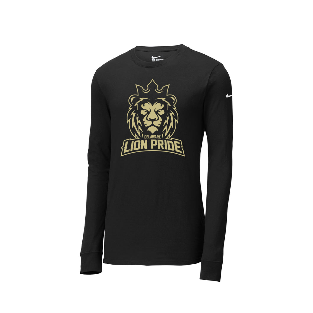 Delaware Lions - Nike Core Cotton Tee LS (Black)