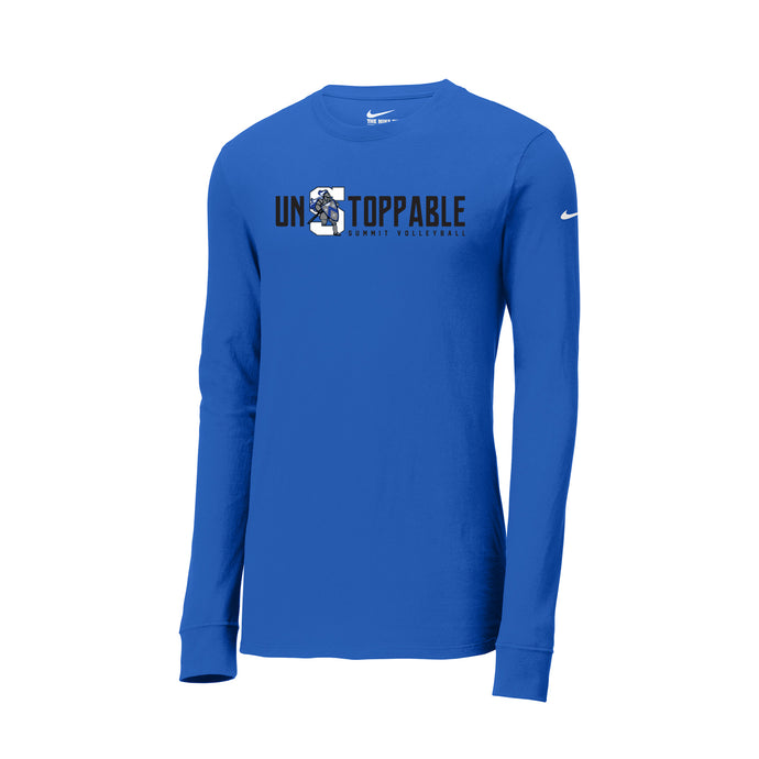 The Summit Volleyball - Nike Core Cotton Tee LS (Game Royal)