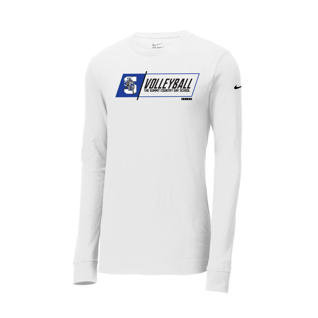 The Summit Volleyball - Nike Core Cotton Tee LS (White)