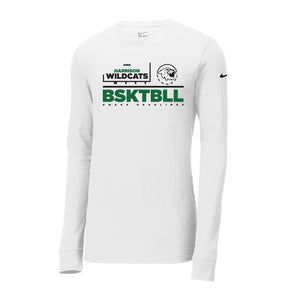 Harrison Girls Basketball 2020 - Nike Core Cotton Long Sleeve Tee (White)