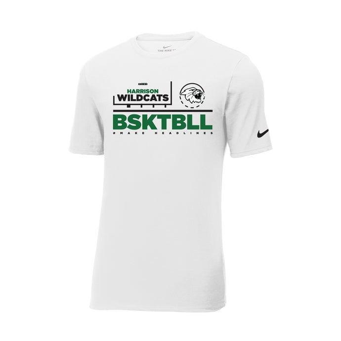 Harrison Girls Basketball 2020 - Nike Core Cotton Tee (White)