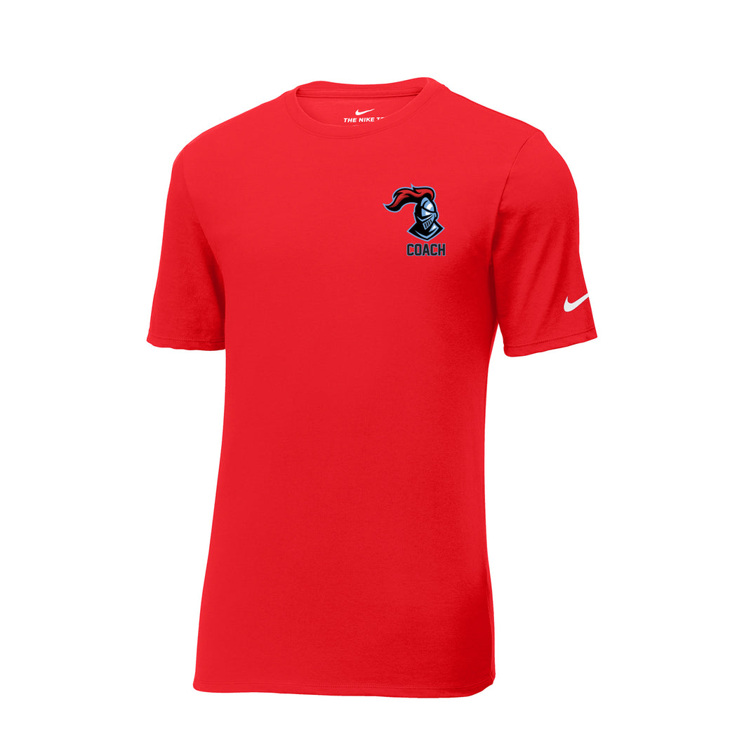 Kings Youth Football Coaches - Nike Core Cotton Tee (Red)