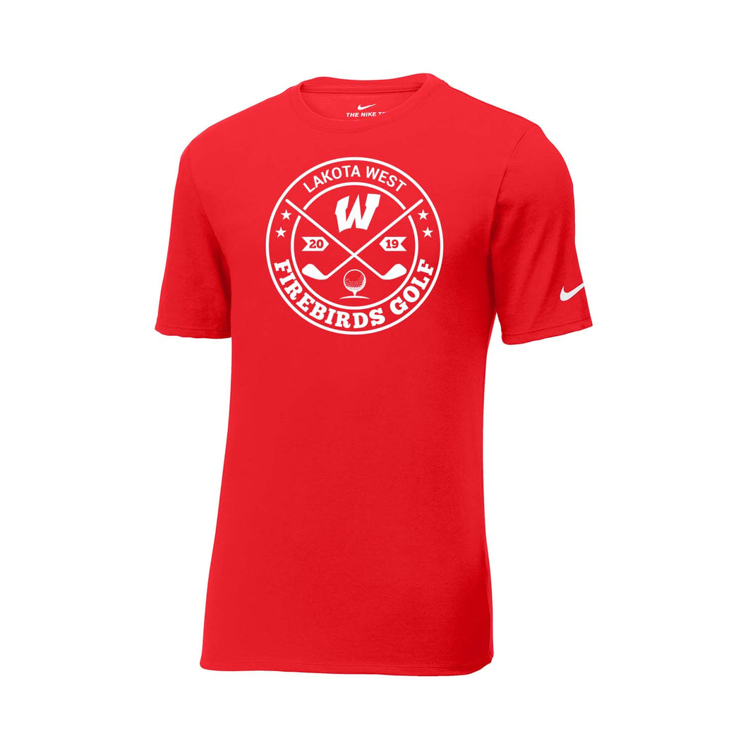 Lakota West Golf - Nike Core Cotton Tee (Red)