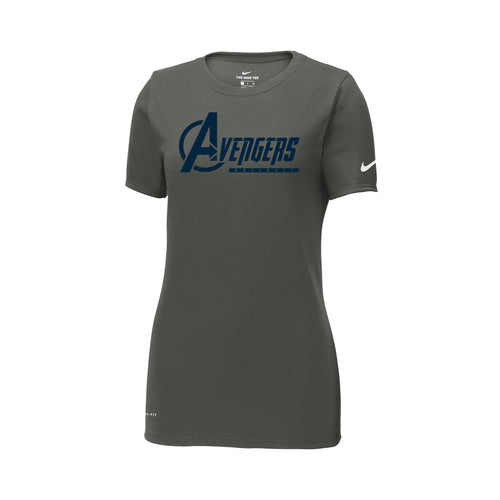 Avengers Baseball Nike Ladies Dri-FIT Tee (Anthracite)