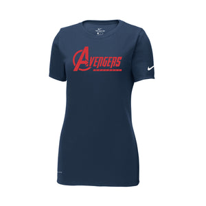 Avengers Baseball Nike Ladies Dri-FIT Tee (Navy)