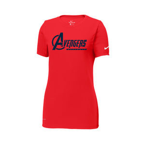 Avengers Baseball Nike Ladies Dri-FIT Tee (Red)