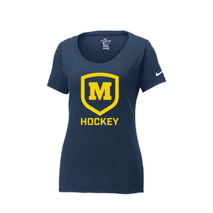 Moeller Hockey - Nike Ladies Core Cotton Scoop Neck Tee (Navy)