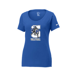 The Summit Volleyball -  Nike Ladies Core Cotton Scoop Neck Tee (Rush Blue)