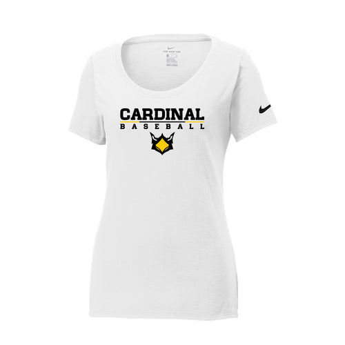 Cards Baseball Nike Ladies Core Cotton Scoop Neck Tee (White)