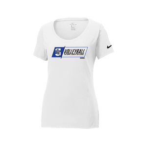 The Summit Volleyball -  Nike Ladies Core Cotton Scoop Neck Tee (White)