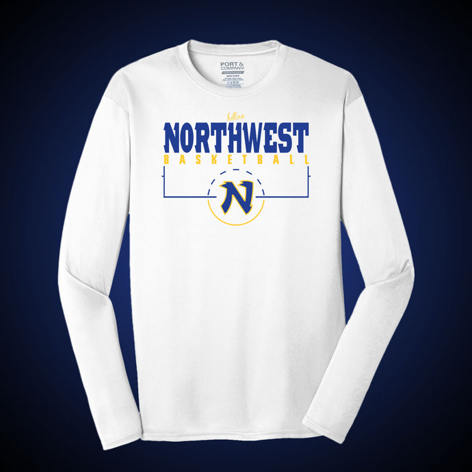 Northwest Basketball Knights Dri Fit LS Tee