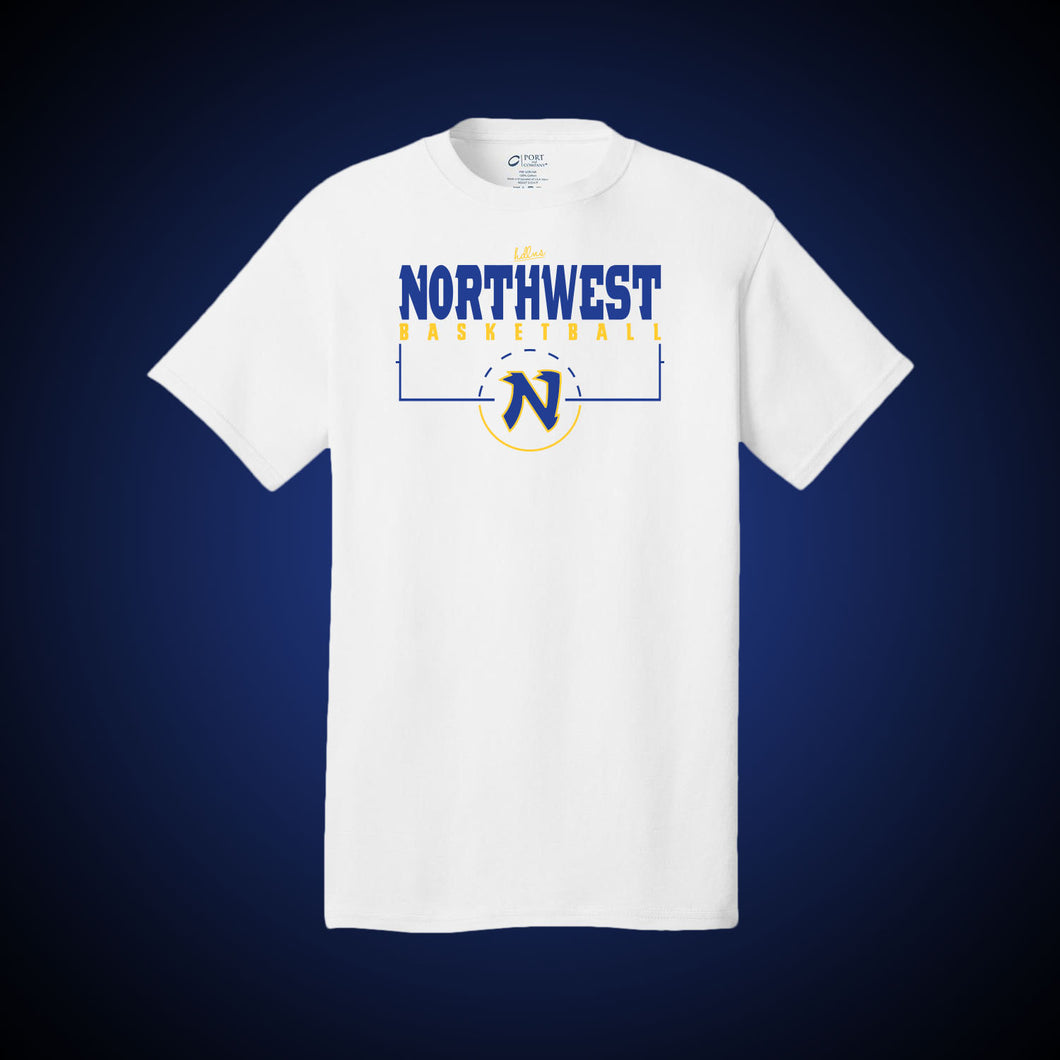 Northwest Basketball Court Tee (White)