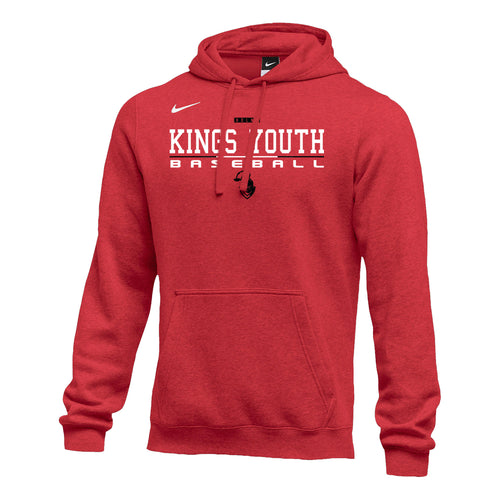 Kings Youth Baseball - Nike Club Fleece Hoody (Red)