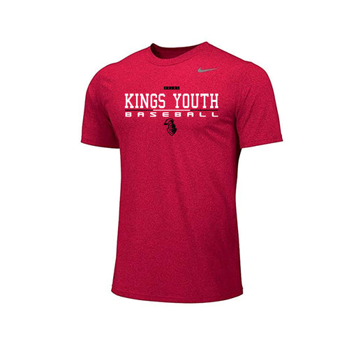 Kings Youth Baseball - Nike Team Legend SS (Red)