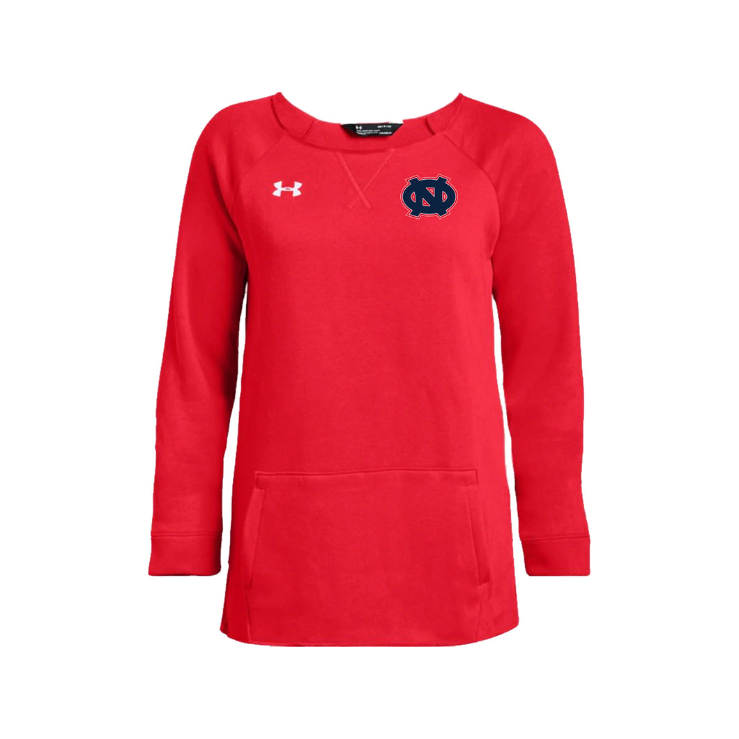 Ohio Nationals - UA W's Hustle Fleece Crew (Red)