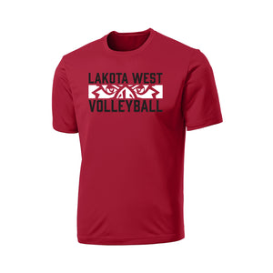 Lakota West Boys Volleyball 2021 - Performance Tee (Red)