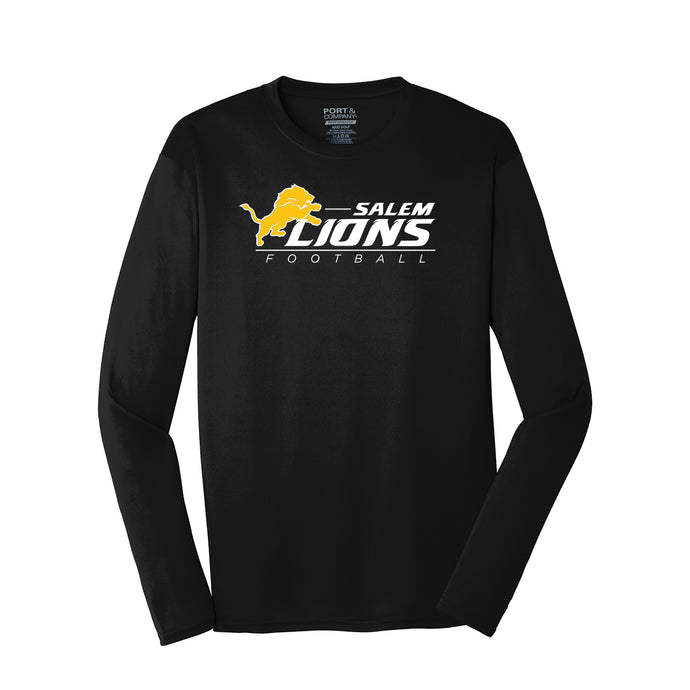 Salem Lions Football - Performane LS Tee (Black)