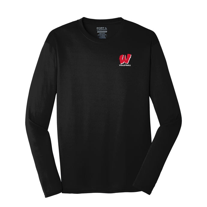 Lakota West Boys Volleyball 2021 - Long Sleeve Performance Tee (Black)