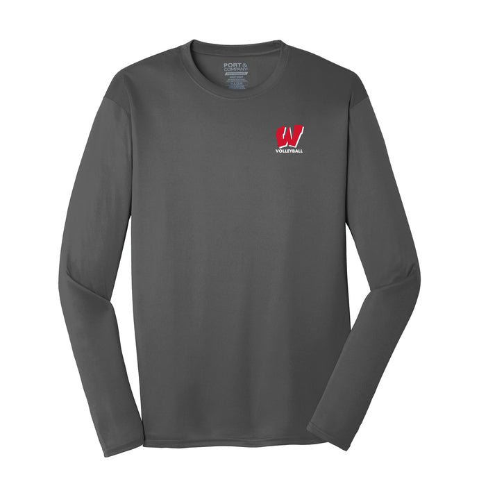 Lakota West Boys Volleyball 2021 - Long Sleeve Performance Tee (Charcoal)