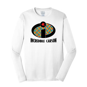 Incredible Carson 2021 - Performance Long Sleeve Tee (White)