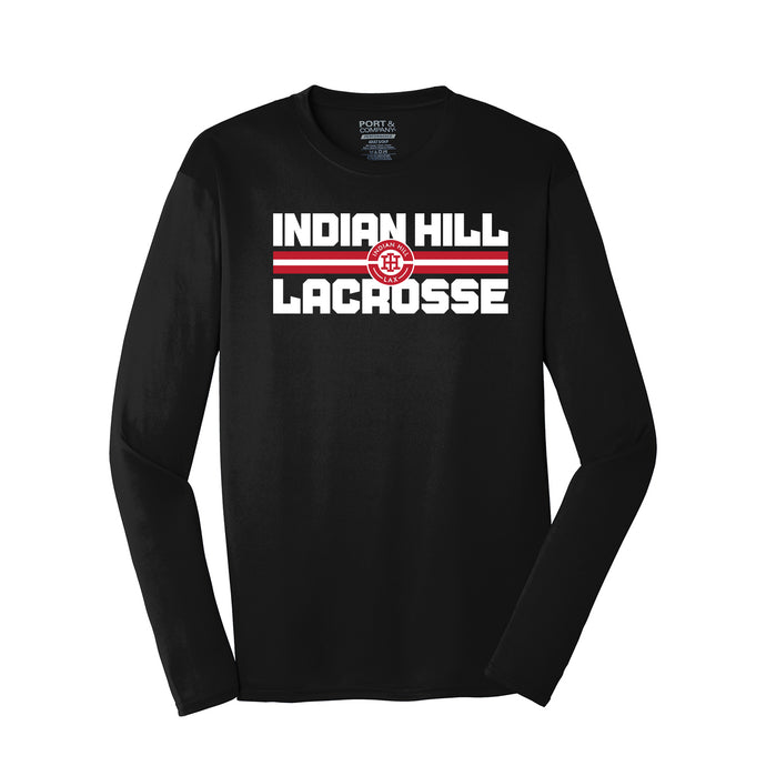 Indian Hill Lacrosse 2021 - Performance Long Sleeve Tee (Black)