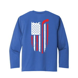Cincy Swords - Dri Fit LS Tee (Royal)