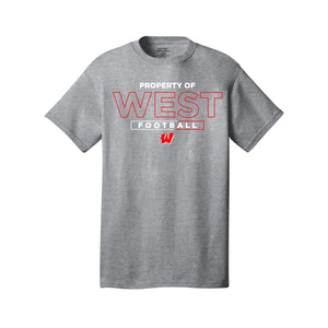 Lakota West Football - Short Sleeve Tee (Athletic Heather)