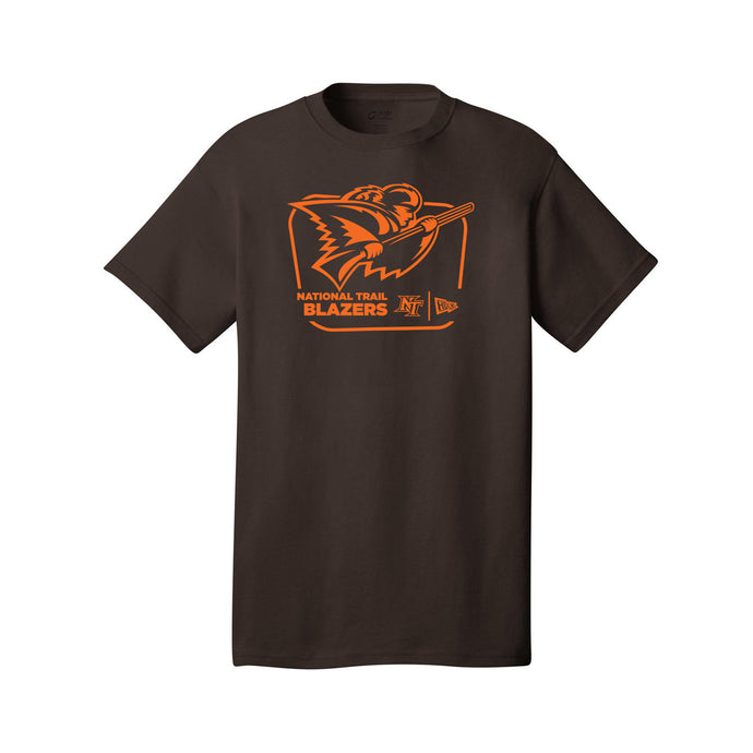 National Trail Athletics - Core Cotton Tee (Dark Chocolate Brown)