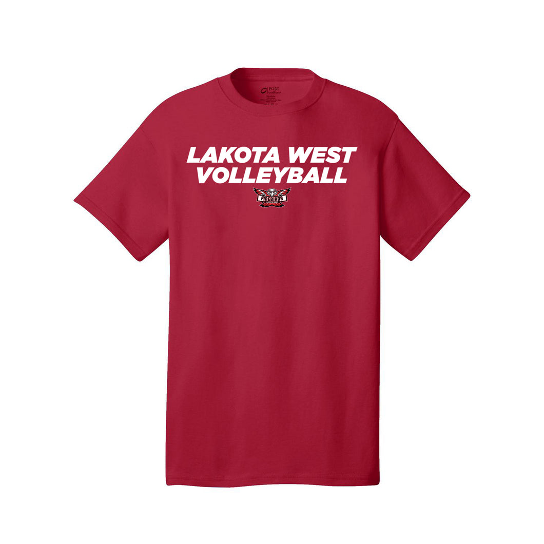 Lakota West Volleyball 2020 - Core Cotton Tee (Red)