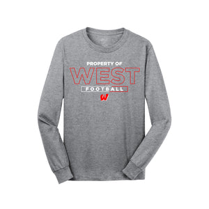 Lakota West Football - Long Sleeve Tee (Athletic Heather)