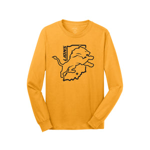 Salem Lions Football - Core Cotton LS Tee (Gold)