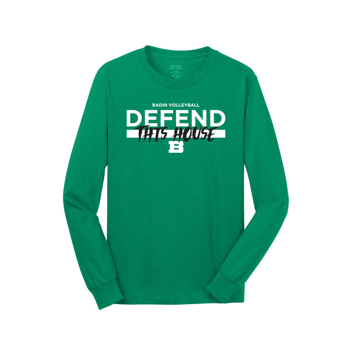 Badin Boys Volleyball 2021 - Long Sleeve Core Cotton Tee (Kelly)