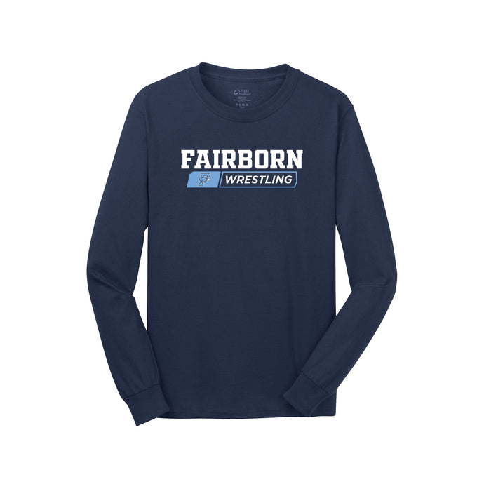 Fairborn Wrestling 2020 - Long Sleeve Core Cotton Tee (Navy)
