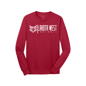 Lakota West Football - Long Sleeve Tee (Red)