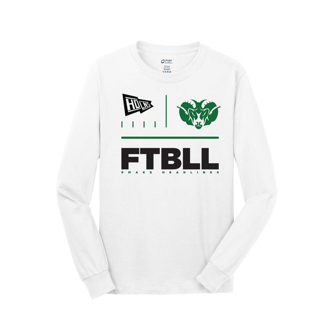 Badin Football - PC54 LS Core Cotton Tee (White)