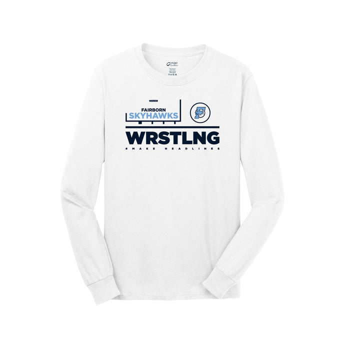 Fairborn Wrestling 2020 - Long Sleeve Core Cotton Tee (White)