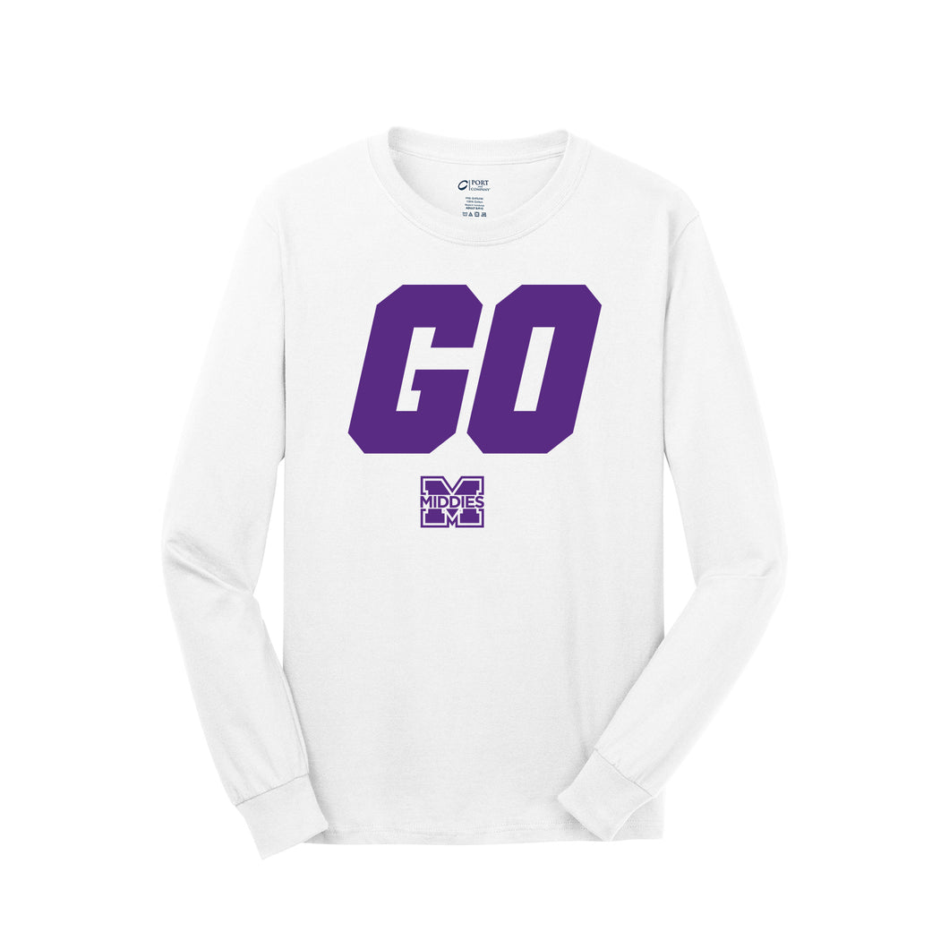 Middletown Athletics - Middie Pride LS Tee (White)