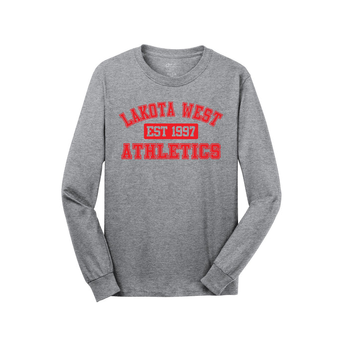 Lakota West Athletics LS Tee (Athletic Heather)