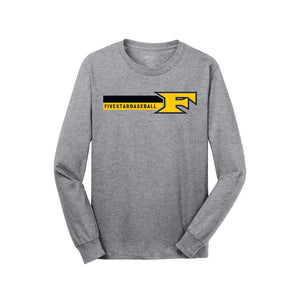 5 Star Baseball - Five Star Long Sleeve Tee (Athletic Heather)