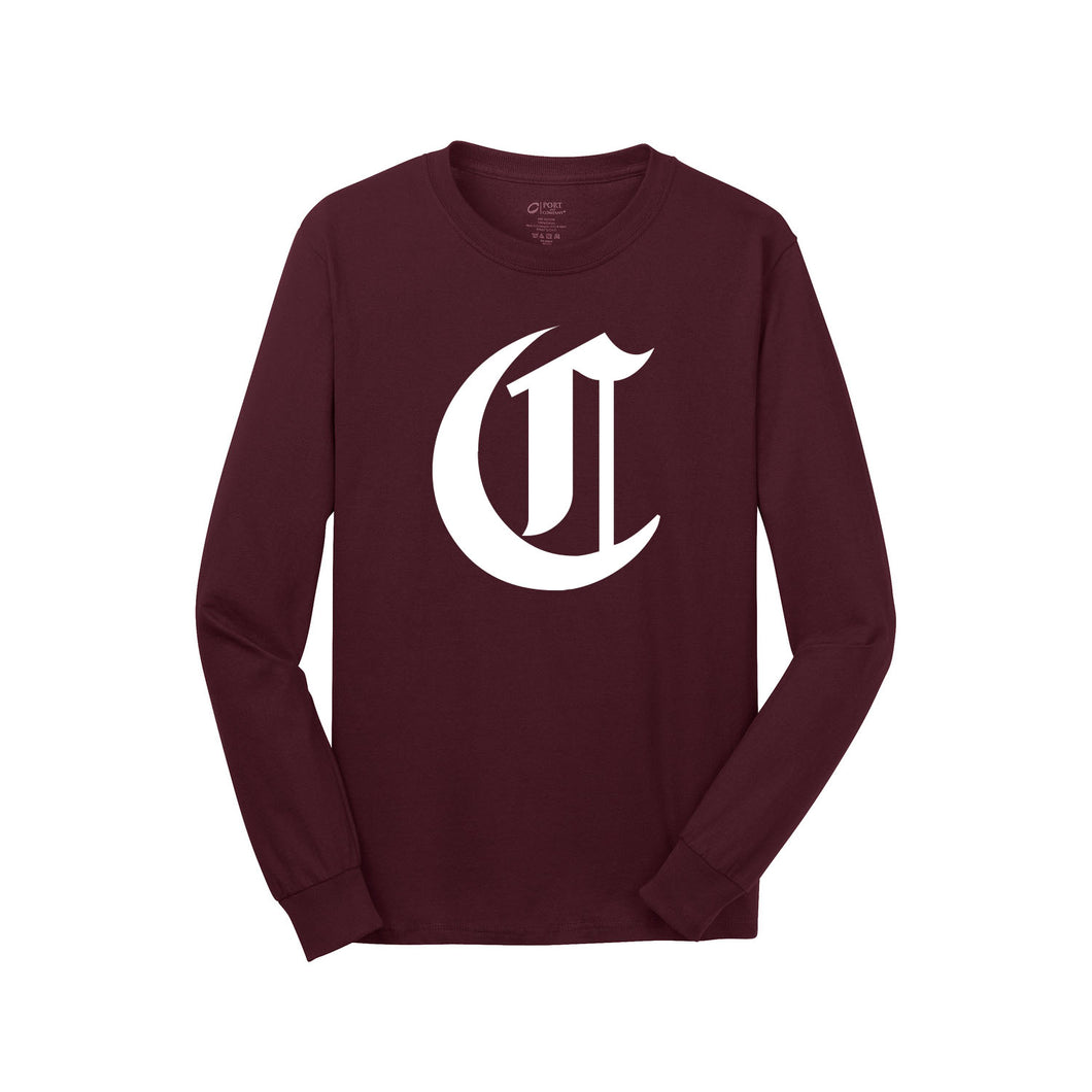 Cincy Stix Baseball LS Tee (Maroon)