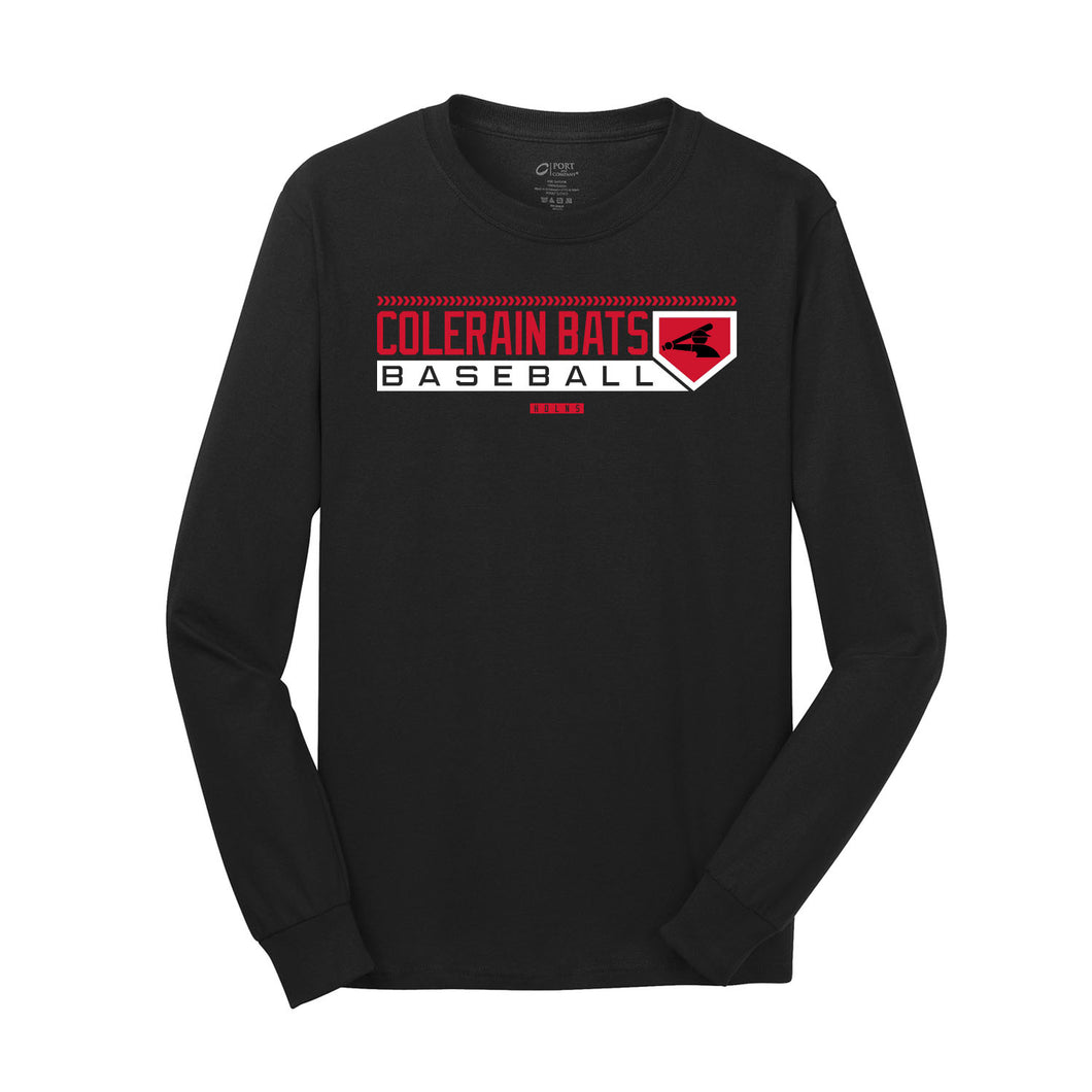 Colerain Bats - Red LS Tee (Black)