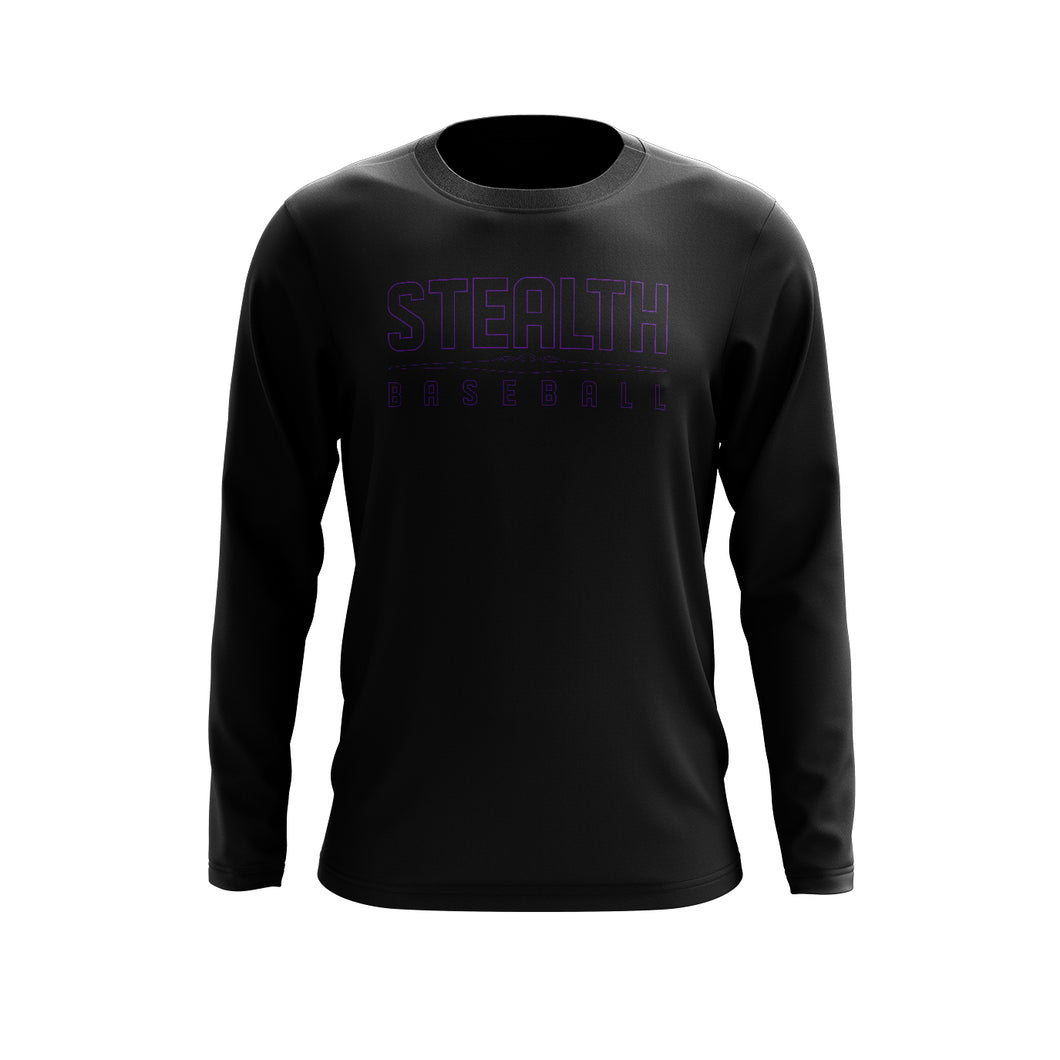 Stealth Baseball Black Long Sleeve Tee