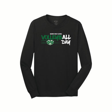 Badin Boys Volleyball LS Tee (Black)