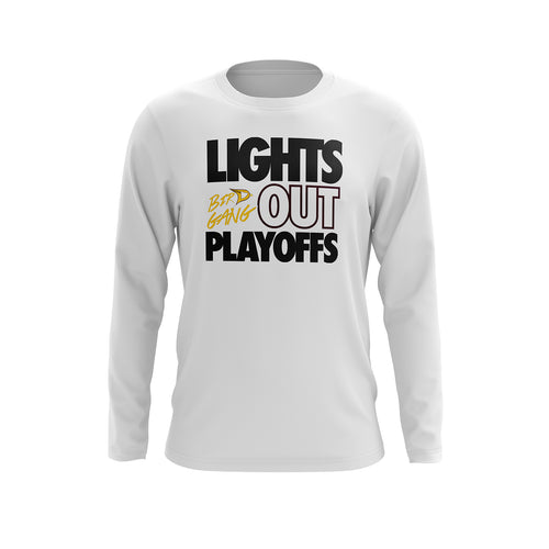 Davison Lights Out Playoff Long Sleeve Tee - White