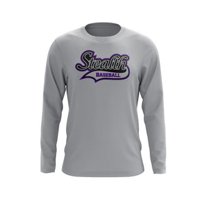 Stealth Baseball Grey Long Sleeve Tee