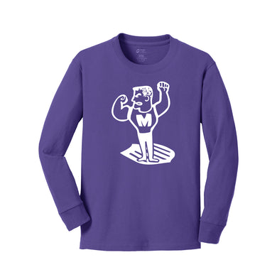 Middletown Athletics - Middie Man LS Tee (Purple)