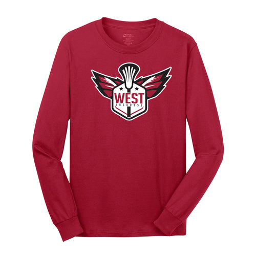 West Lacrosse LS Tee (Red)