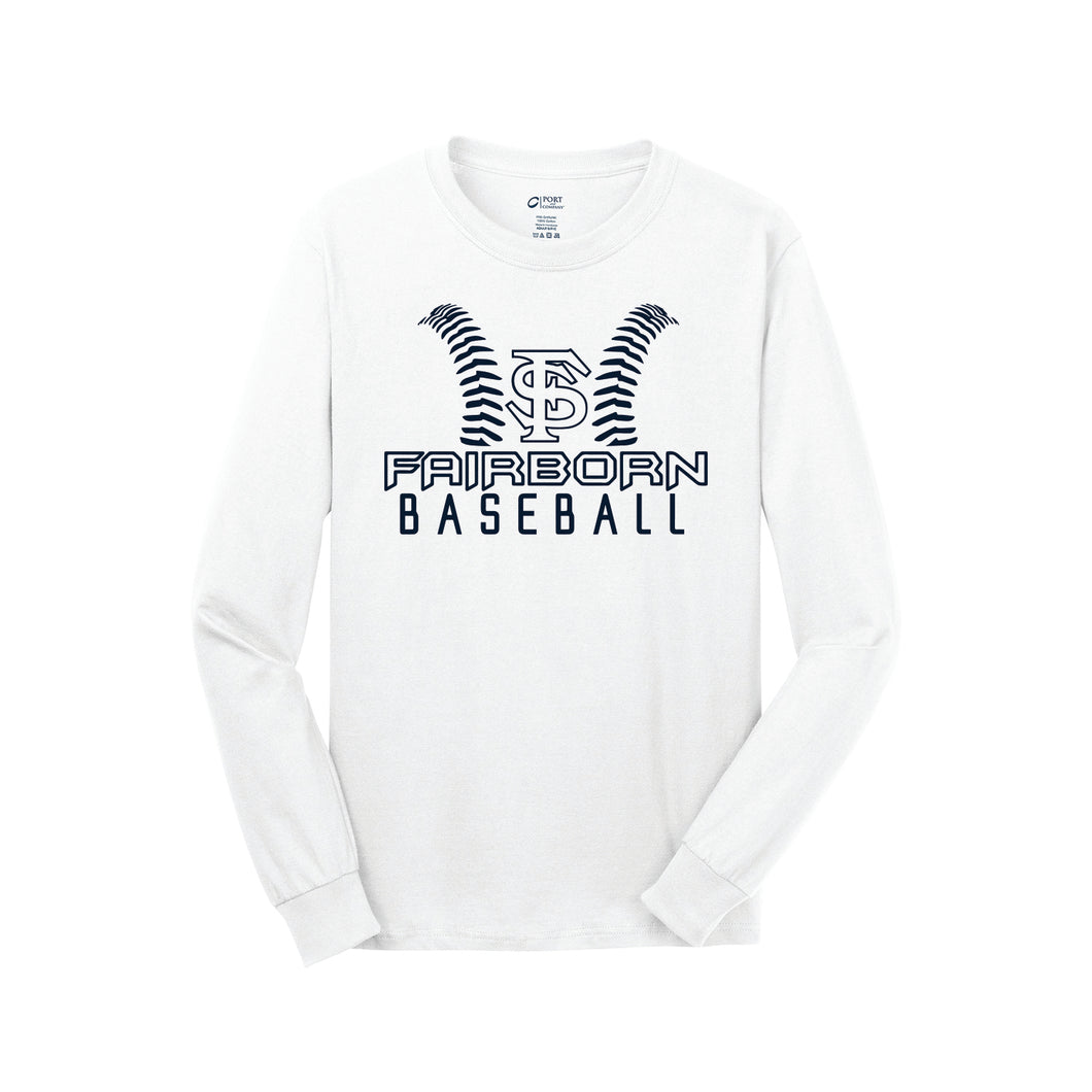 Fairborn Baseball - Core Cotton LS Tee (White)
