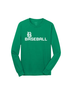 Badin Baseball - Script LS Tee (Kelly Green)